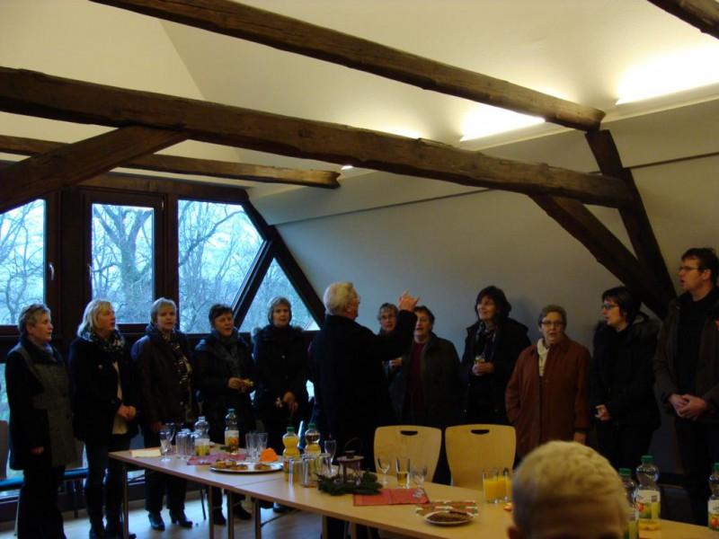 Chor unter Leitung Kantor Peter Bräuer