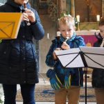 Gottesdienst mit Flötenspiel