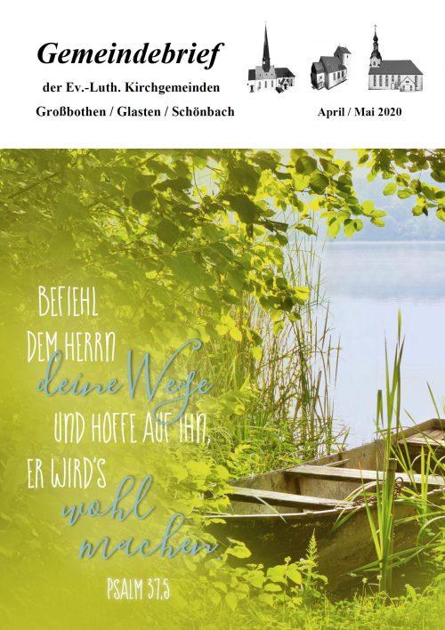 Gemeindebrief April/Mai 2020